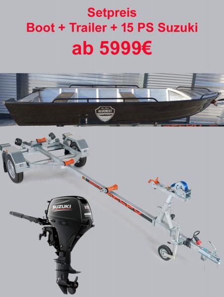 ALUCREST Fish 420  Set  15 PS Suzuki + Trail - Bild 1