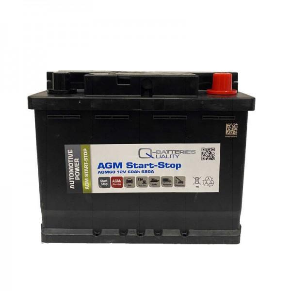 Q-Batteries Start Stop AGM 60 ah